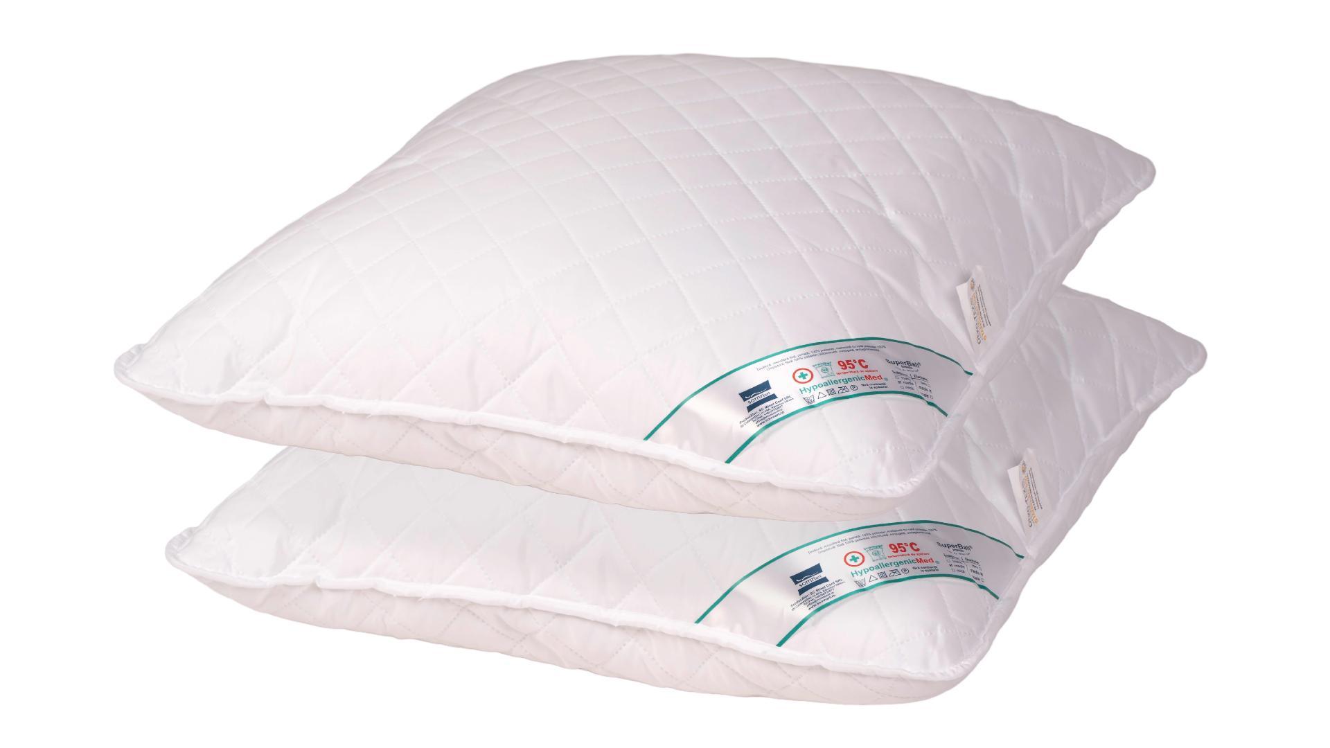 Set 2 perne hipoalergenice Somnart HypoallergenicMed, lavabile la 95°C - 70x70 imagine 2021 somnart.ro