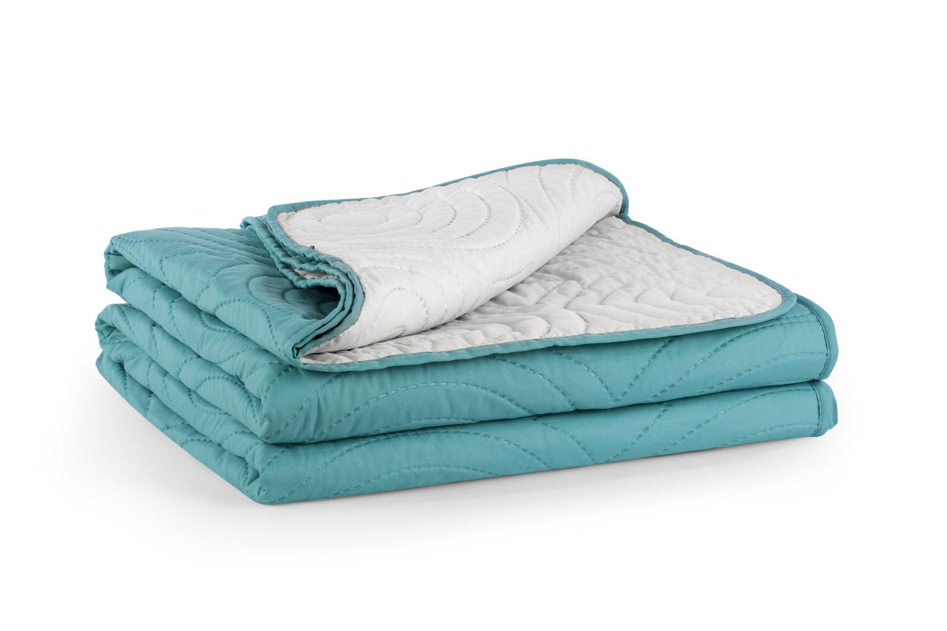 Set Cuvertura Pat + fata de perna Turquoise - 170x240 cm