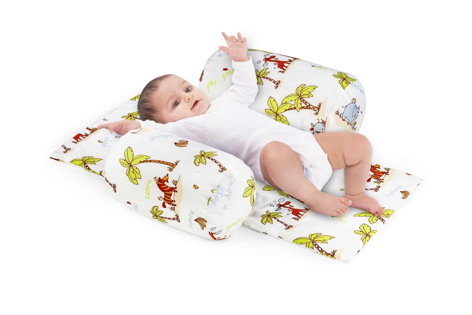 Suport de siguranta cu paturica impermeabila pentru bebelusi model Jungle imagine 2021 somnart.ro