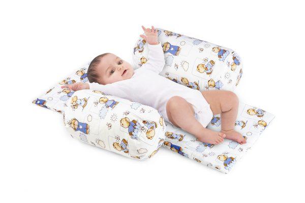 Suport de siguranta cu paturica pentru bebelusi (model Ursuleti)