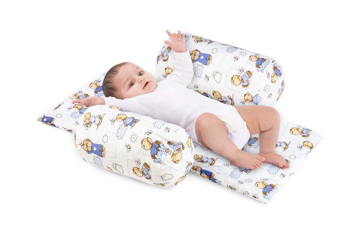 Suport de siguranta cu paturica impermeabila pentru bebelusi model Ursuleti