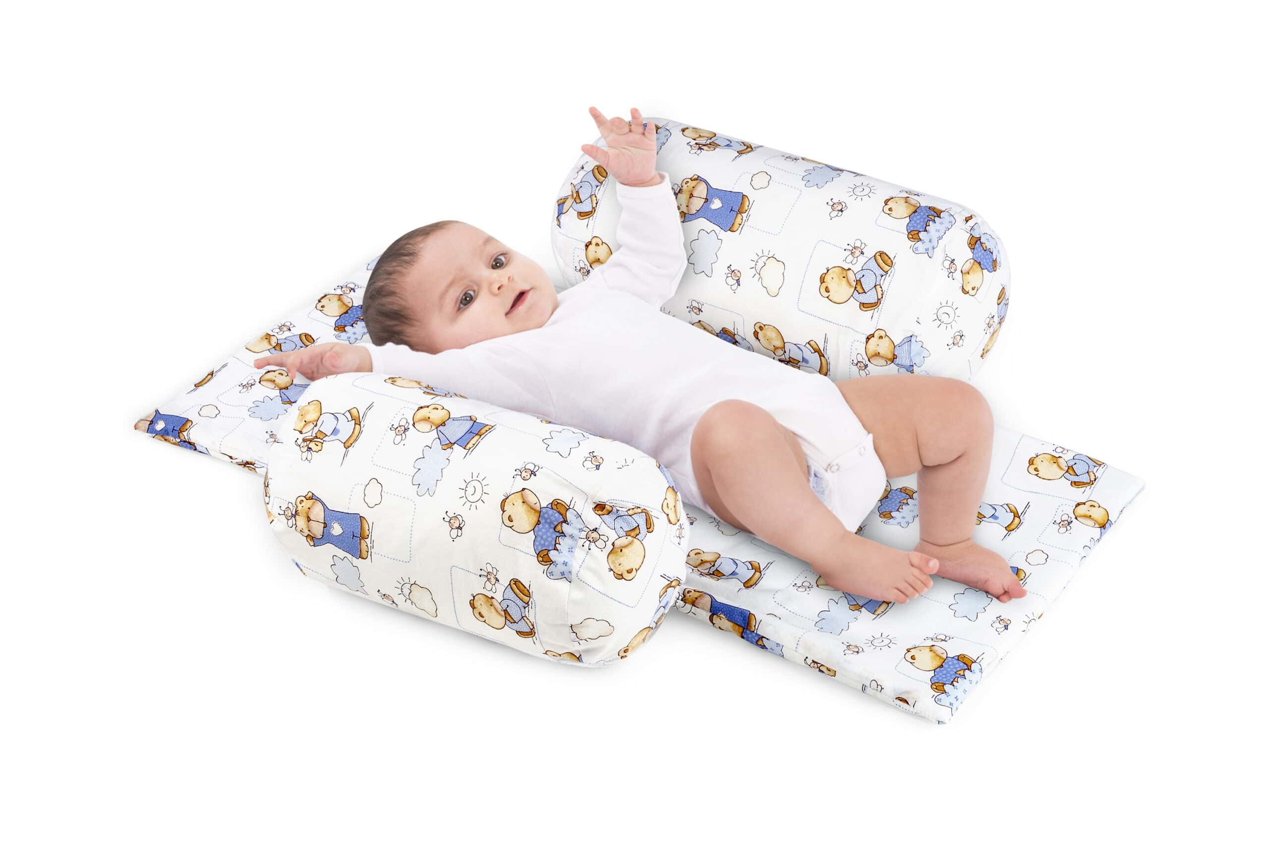 Suport de siguranta cu paturica impermeabila pentru bebelusi model Ursuleti imagine 2021 somnart.ro
