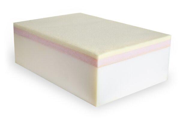 Saltea multistraturi Somnart Multilayer Supreme Confort 160x200x22cm, spuma poliuretanica cu memorie + SmartFoam + AirFoam + husa matlasata cu extra-strat memorie, 3D, manere, fermitate medie