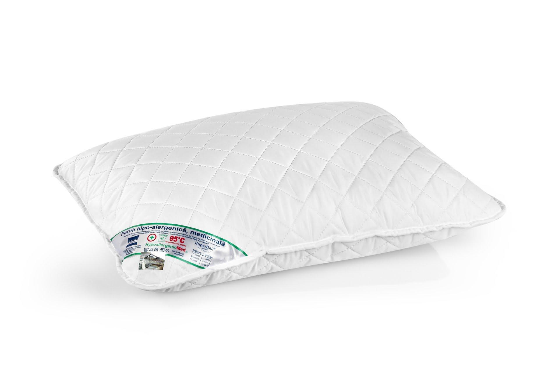 Perna Somnart HypoallergenicMed, lavabila la 95°C - 40 x 60 cm poza somnart.ro