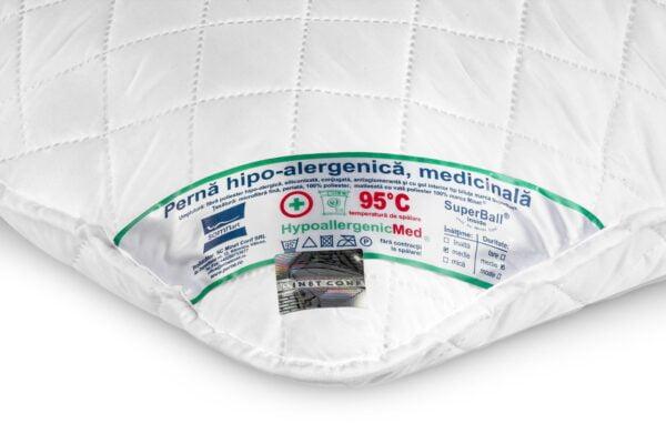Perna Somnart HypoallergenicMed, lavabila la 95°C – 40 x 60 cm