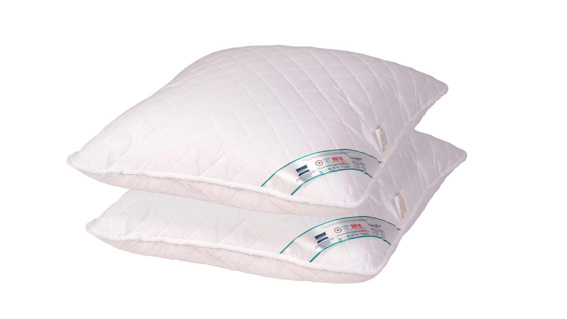 Set 2 perne hipoalergenice Somnart HypoallergenicMed, lavabile la 95°C - 60x60 imagine 2021 somnart.ro