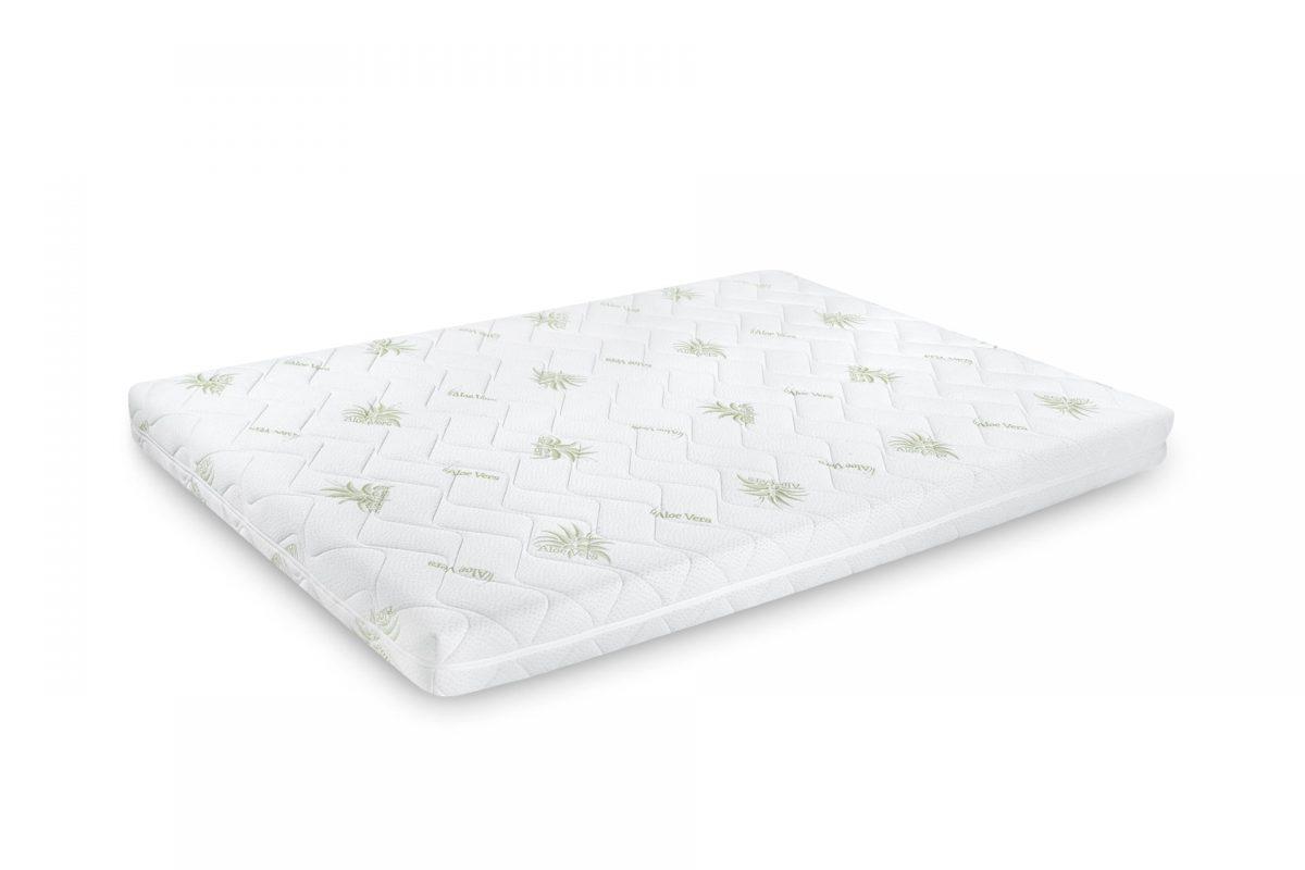 Saltea Confort 4Family cu Aloe Vera 150×190 Somnart, grosime 14cm, spuma poliuretanica, husa lavabila si detasabila cu fermoar, fermitate medie