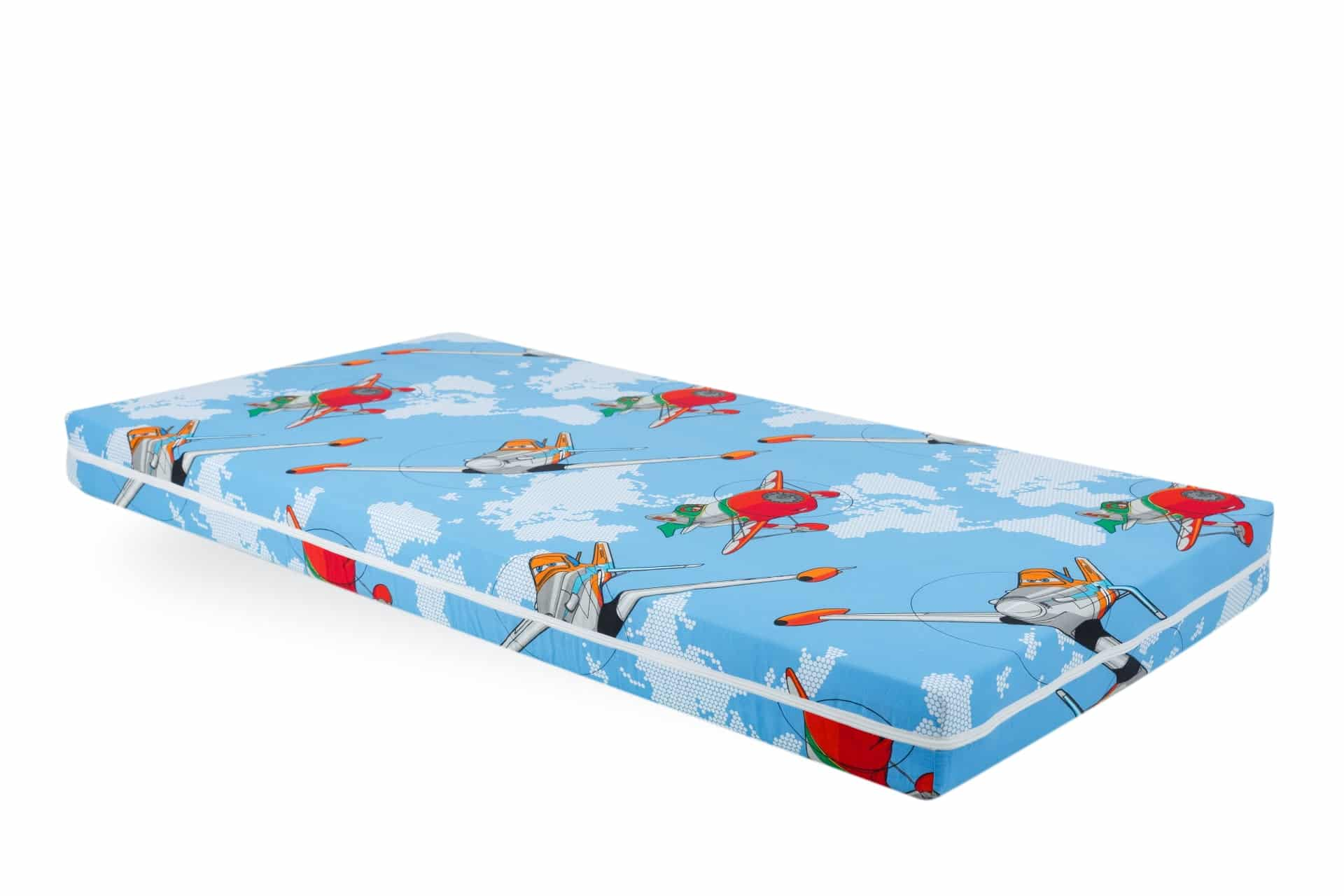 Saltea Pat Somnart Memory cu husa protectie impermeabila pentru bebelusi si copii model Aviator 70x140 poza somnart.ro
