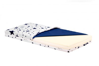 Saltea Pat Somnart Memory cu husa protectie impermeabila pentru bebelusi si copii model Stars 60×120