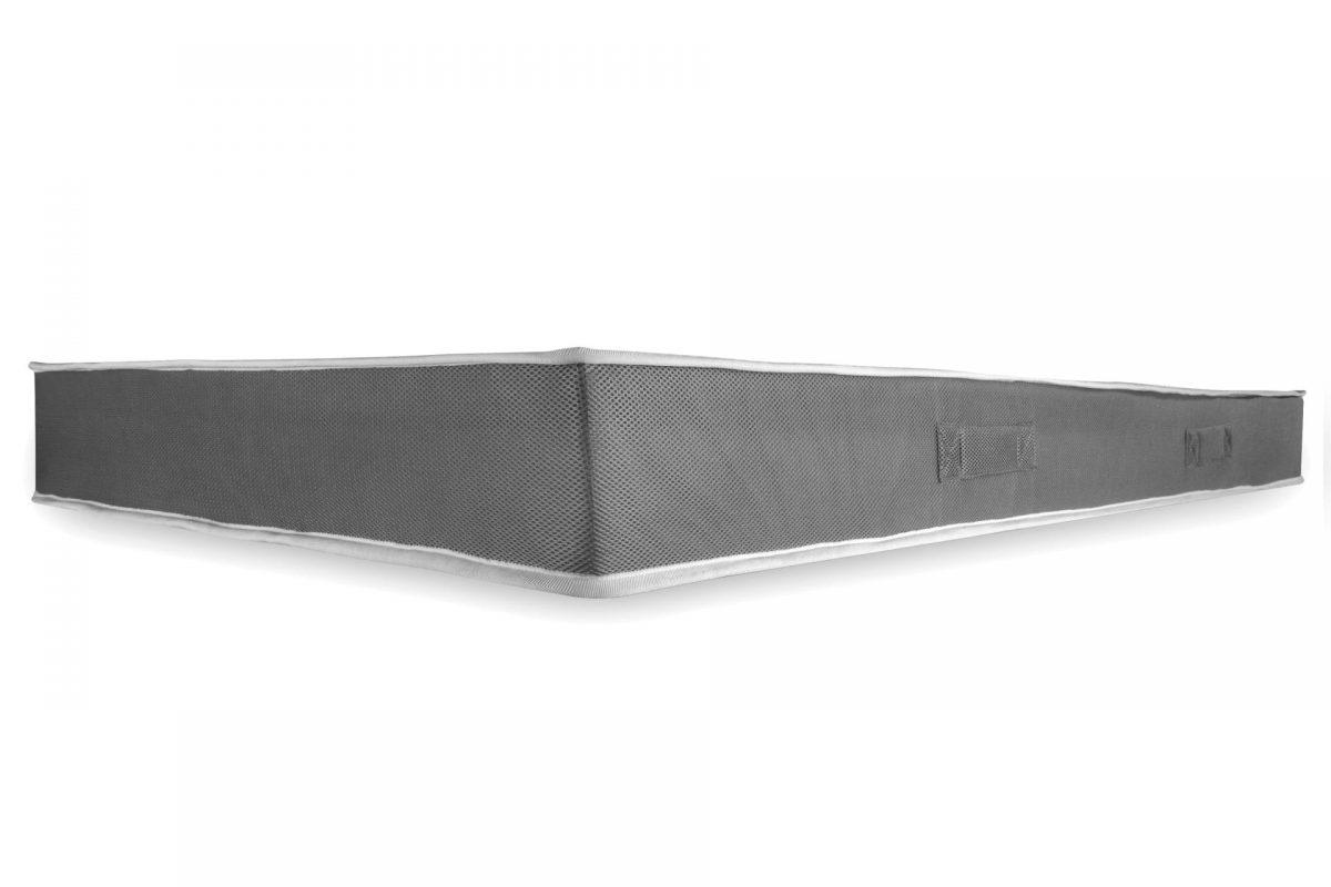 Saltea anatomica spuma poliuretanica cu memorie Domine MultiSuport Silver Memory 140x200x16cm, 3 straturi de suport, husa cu ioni de Argint lavabila si detasabila cu fermoar, manere, 3D, fermitate medie