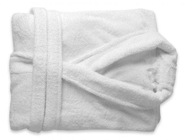 Halat de baie alb Somnart unisex 100% bumbac – L