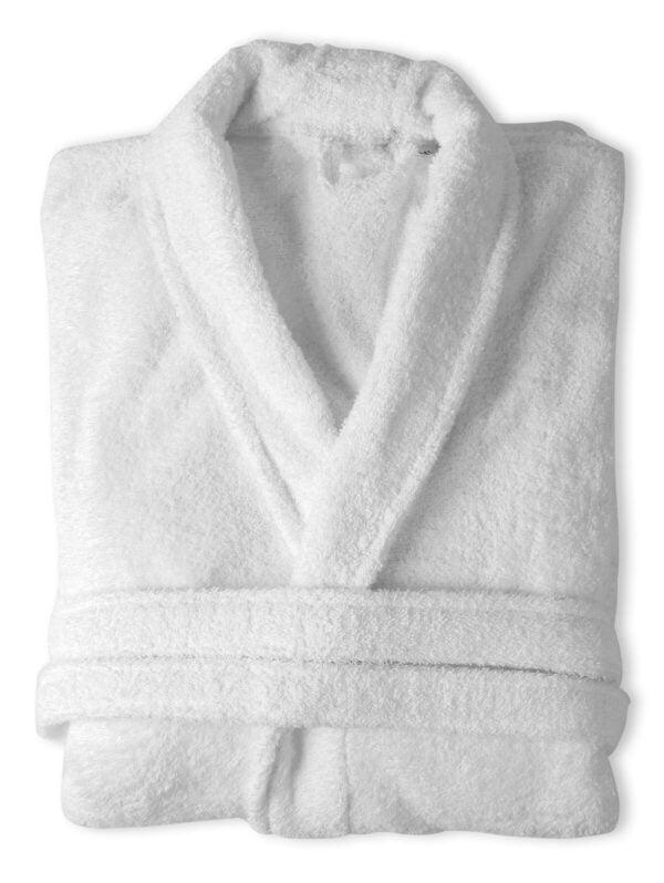 Halat de baie alb Somnart unisex 100% bumbac – XL