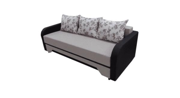 Canapea Corina mare, crem/wenge, stofa/piele