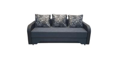 Canapea Corina mare ABC, gri/wenge, stofa/piele ecologica
