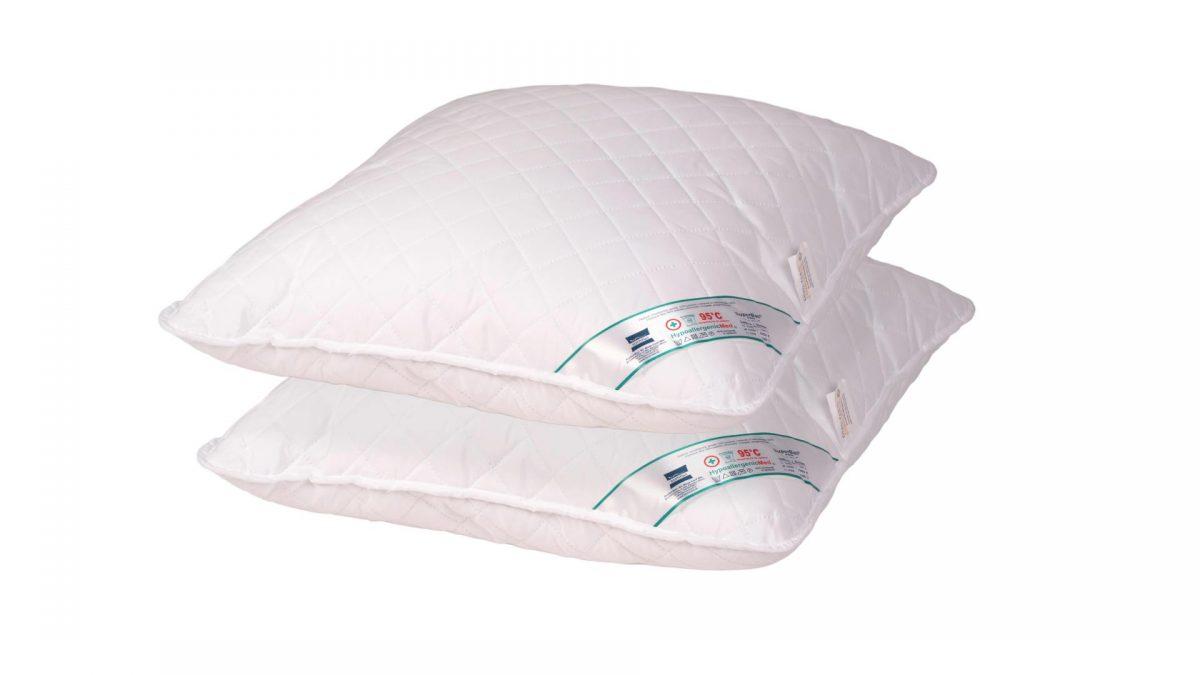 SET 2 Perne Medicinale Hipoalergenice Somnart 40x40cm, HypoallergenicMed, 100% fibra poliester, lavabile la 95 de grade, fermitate medie spre tare