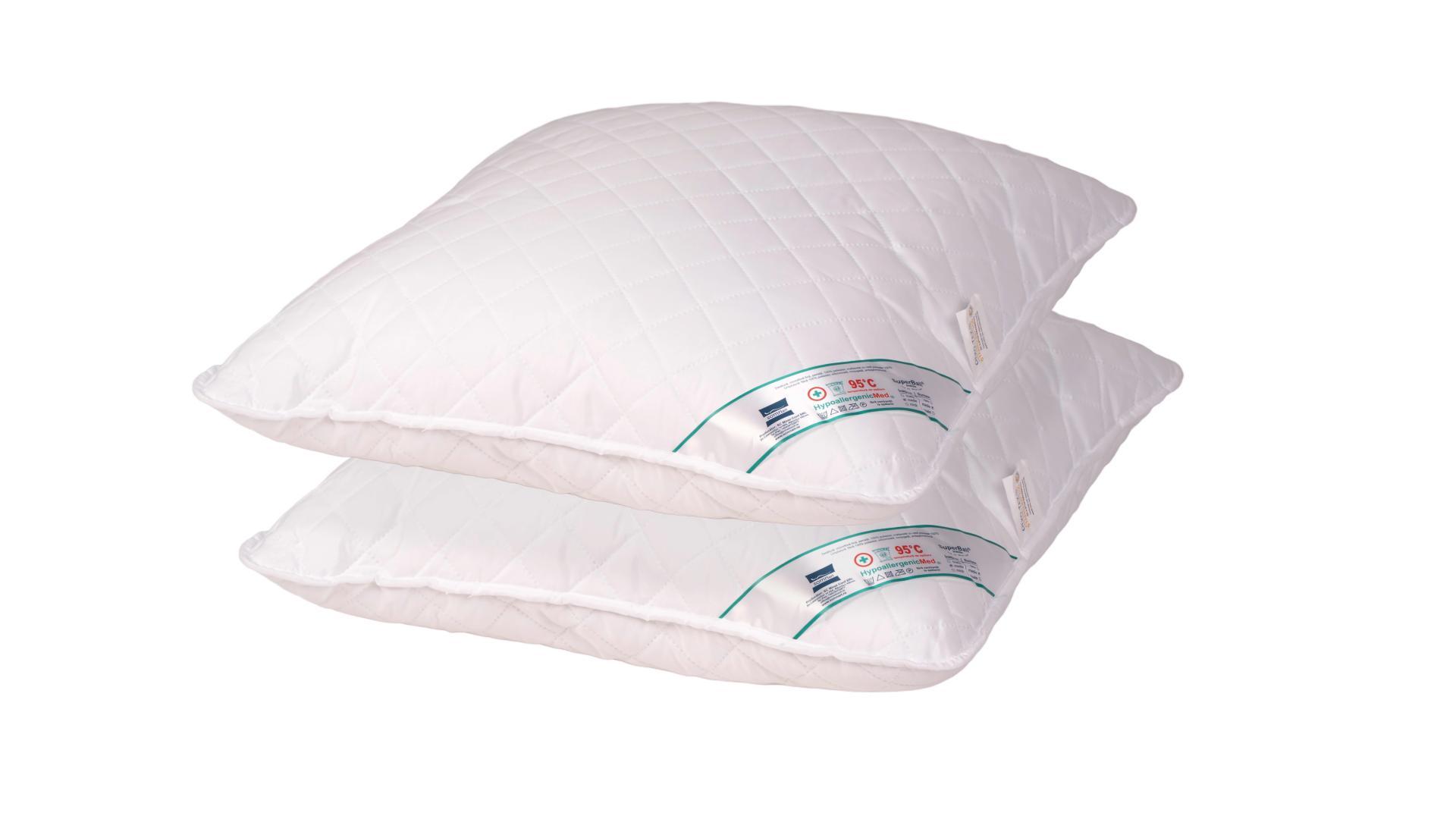 Set 2 perne hipoalergenice Somnart HypoallergenicMed, lavabile la 95°C - 40x40 imagine 2021 somnart.ro