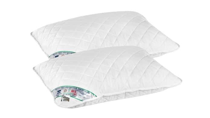 Set 2 perne hipoalergenice Somnart HypoallergenicMed, lavabile la 95°C - 50x70 poza somnart.ro