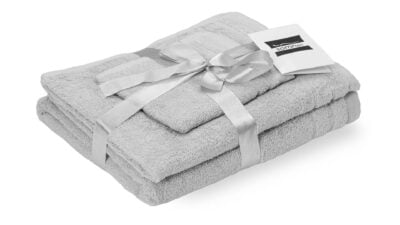 Set prosoape Somnart bumbac de fata 50×90 cm + de corp 70×140 + de maini 30×50 cm – alb optic