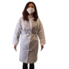 Halat alb, material polipropilenă Geosin, refolosibil, autoclavabil