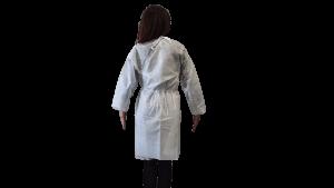 Halat polipropilena unica folosinta, TNT, alb, 40 gr/mp – L
