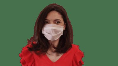 Set 10 x Mască albă pentru gură și nas, polipropilenă, 2 straturi, 3 pliuri (10 bucăți măști)
