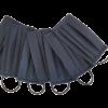 Set: 10 x Mască neagră pentru gură și nas, polipropilenă, 1 strat, 3 pliuri (10 bucăți măști)