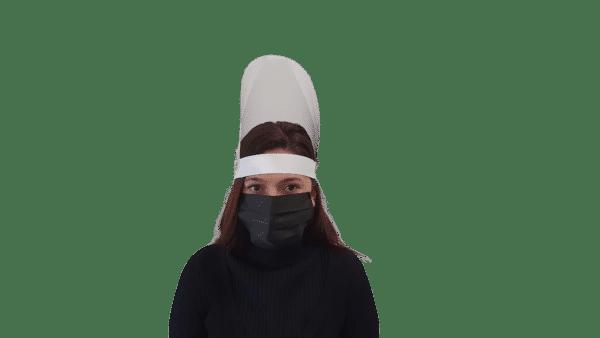 Viziera reglabila, rabatabila, ajustabila pe verticala, 25×35 cm, rezistenta la dezinfectii repetate