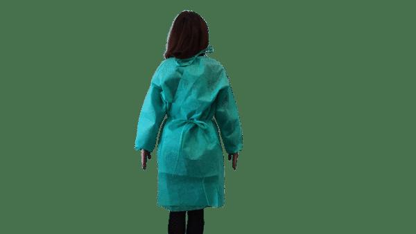 Halat Protectiv, poliester, culoare verde, autoclavabil, refolosibil – XXL