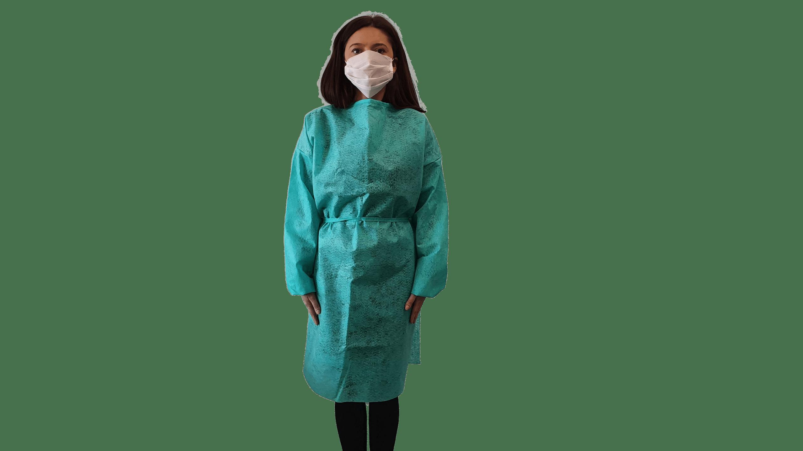 Halat Protectiv, poliester, culoare verde, autoclavabil, refolosibil - XL imagine 2021 somnart.ro