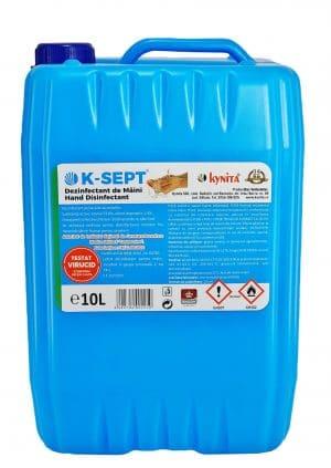 Dezinfectant virucid de maini bidon 10 litri, 75% alcool, avizat virucid, bactericid si fungicid