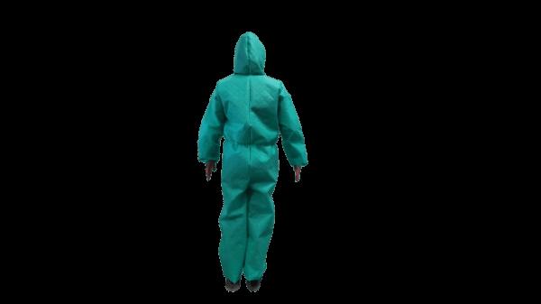 Combinezon Protectiv®, material netesut, cu fermoar, gluga si elastice, autoclavabil – L