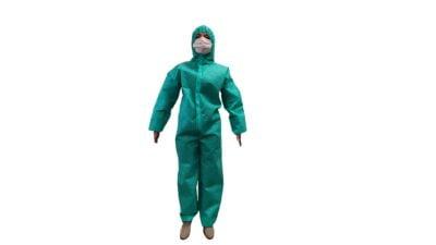 Combinezon Protectiv®, material nețesut, cu fermoar, glugă și elastice, autoclavabil