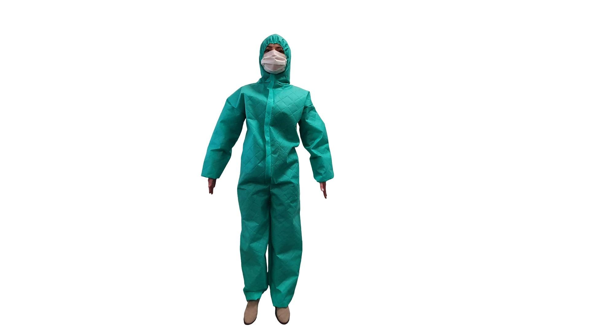 Combinezon Protectiv, material netesut, cu fermoar, gluga si elastice, autoclavabil - XL imagine 2021 somnart.ro