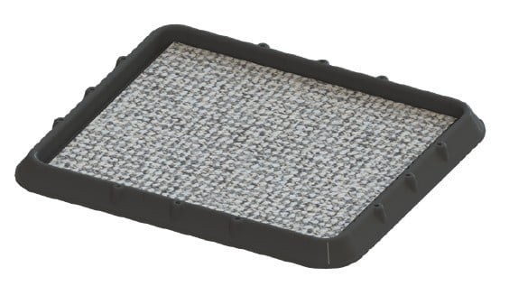 SET 2 x Covor dezinfectant cu tavă de retenție, 2 buc x 48,5 x 42 x 5 cm, asamblabile smart