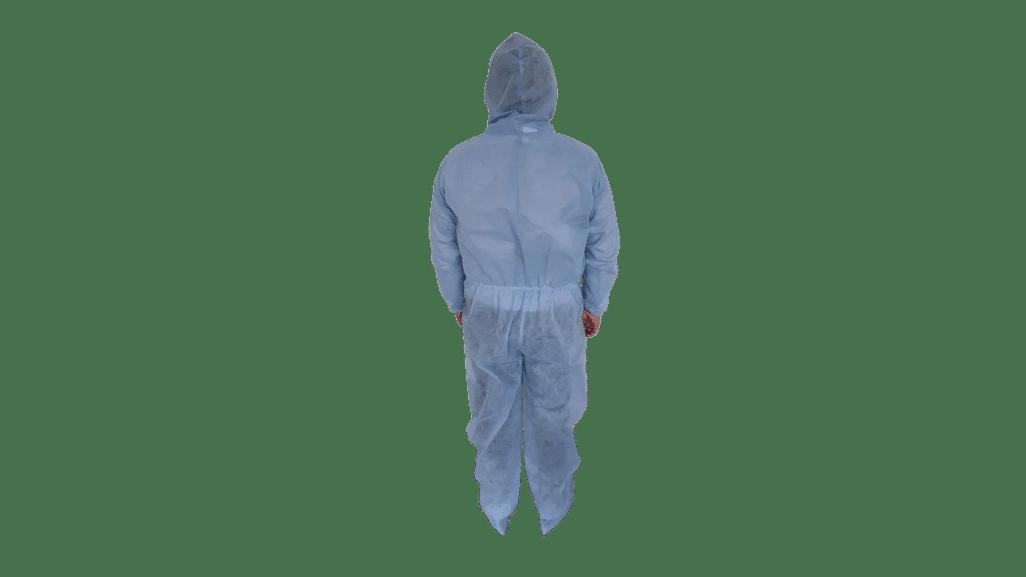 Combinezon unica folosinta, albastru, material polipropilena TNT, 40 g/mp – XXL