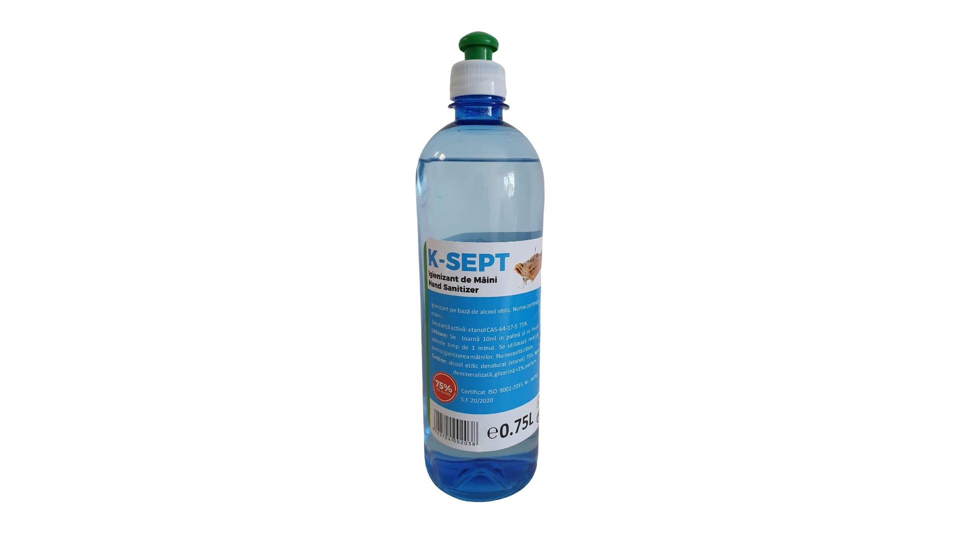 Dezinfectant de suprafete 750 ml, 75% alcool, cu picurator imagine 2021 somnart.ro