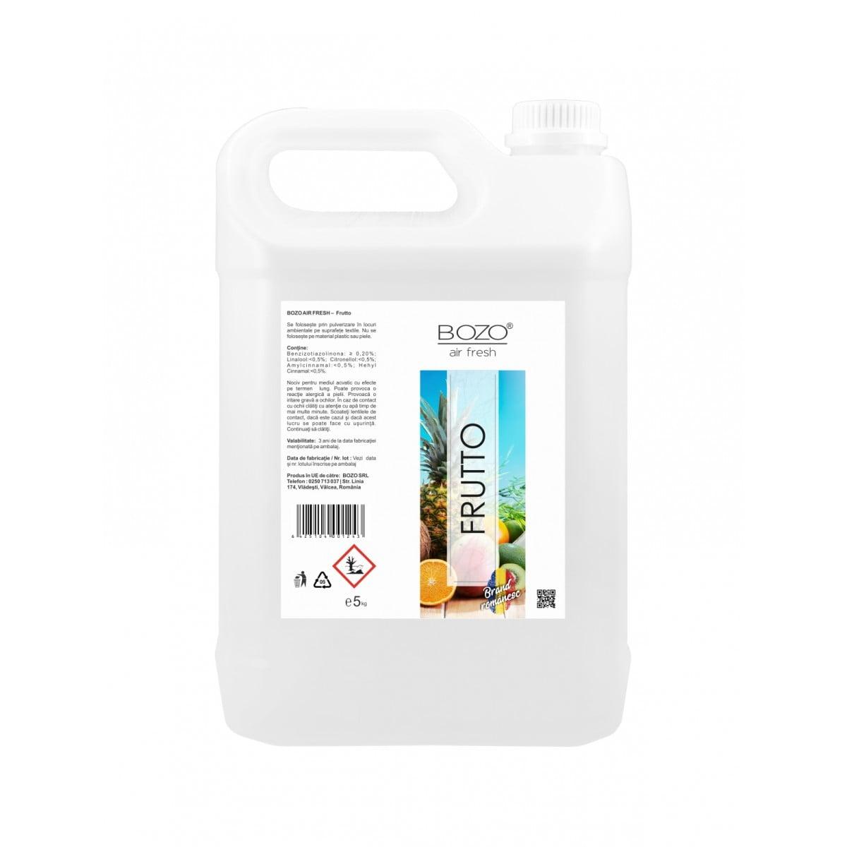 Odorizant ambiental concentrat cu aroma de fructe, Bozo Air Fresh - Frutto - 5 litri imagine 2021 somnart.ro