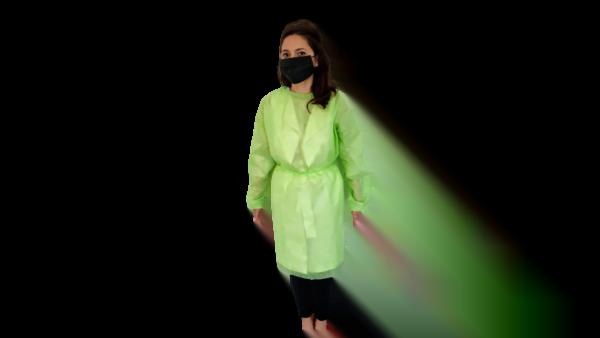 Halat polipropilena unica folosinta verde, 40 gr/mp – XL