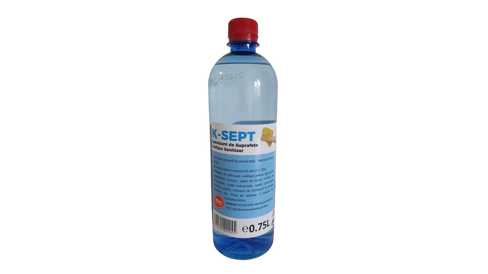 Dezinfectant de suprafete 750 ml, 75% alcool imagine 2021 somnart.ro