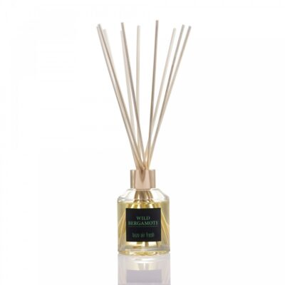 Parfum ambiental cu difuzor cu bete de trestie cu aroma Reed Diffuser – Wild Bergamote, Bozo, 100ml