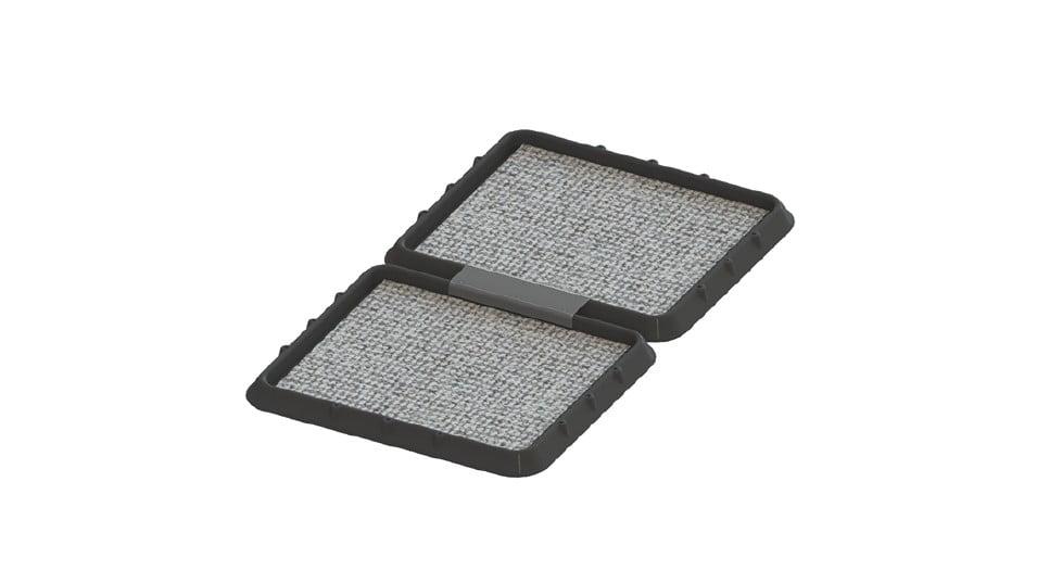 SET 2 x Covor dezinfectant cu tava de retentie, 2 buc x 48,5 x 42 x 5 cm, asamblabile smart imagine 2021 somnart.ro