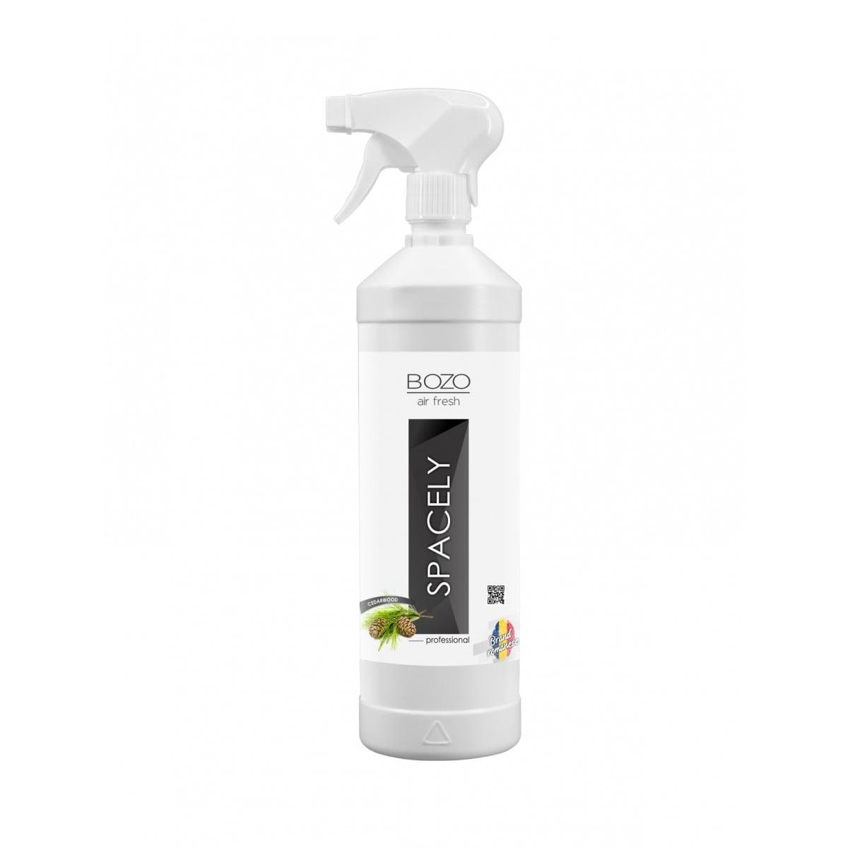 Odorizant ambiental concentrat cu aroma cedru, Bozo Air Fresh - Spacely, Cedarwood - 1000ml imagine 2021 somnart.ro