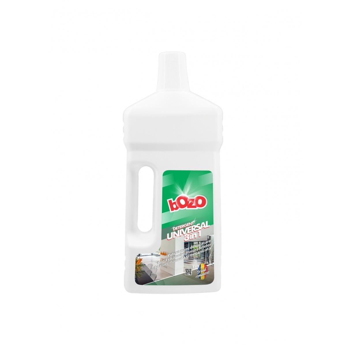 Detergent concentrat universal 3 in 1 (textile, suprafete, covoare), Bozo, 1 kg poza somnart.ro