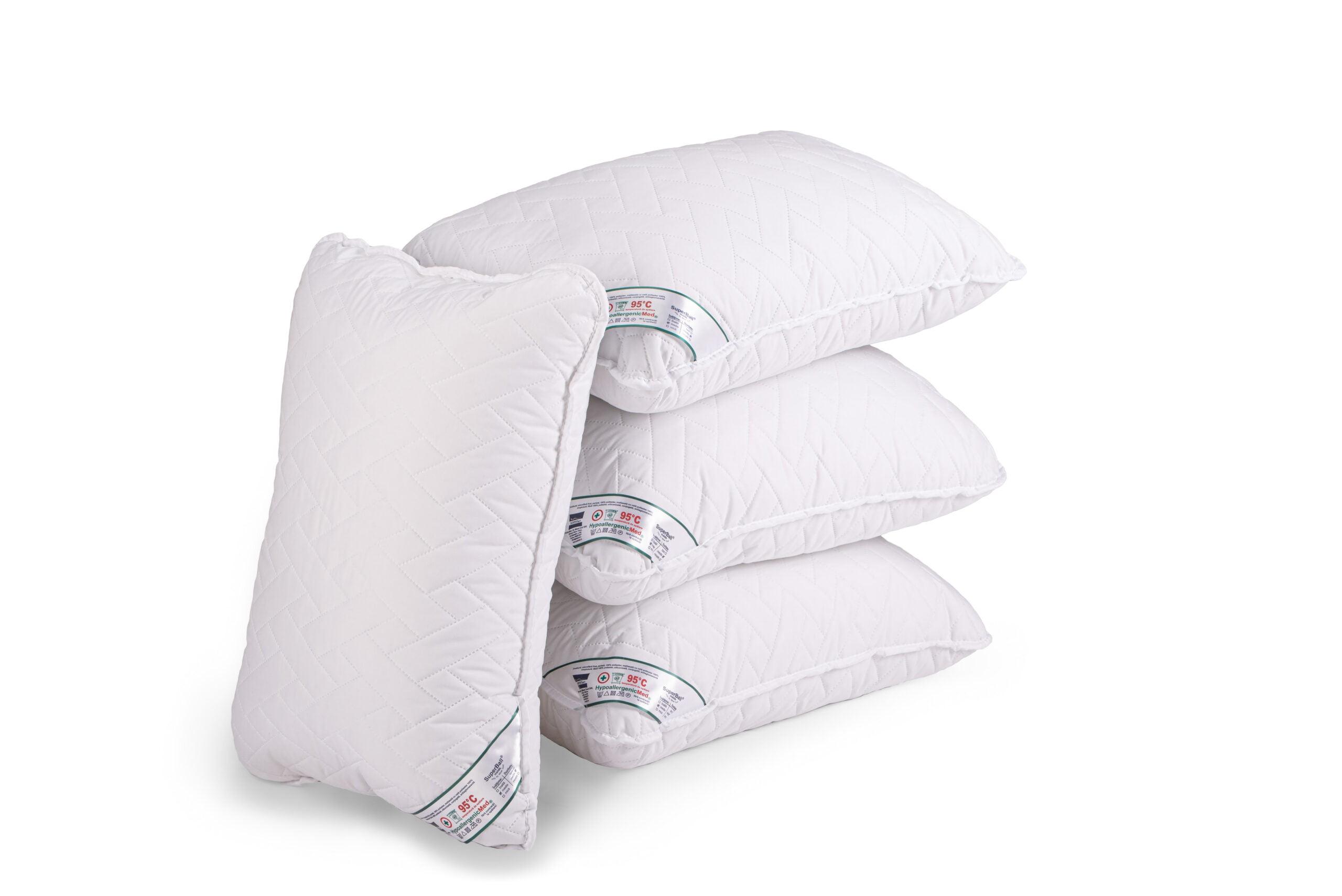 Set 4 perne 50x70 Somnart HypoallergenicMed, lavabile la 95°C imagine 2021 somnart.ro