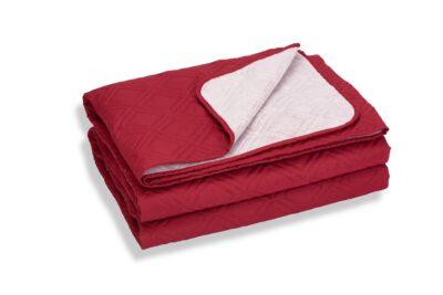 Cuvertură de pat Somnart, Bordeaux, microfibră soft-touch, 220X240 cm