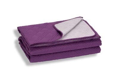 Cuvertură de pat Somnart, mov, microfibră soft-touch, 220X240 cm