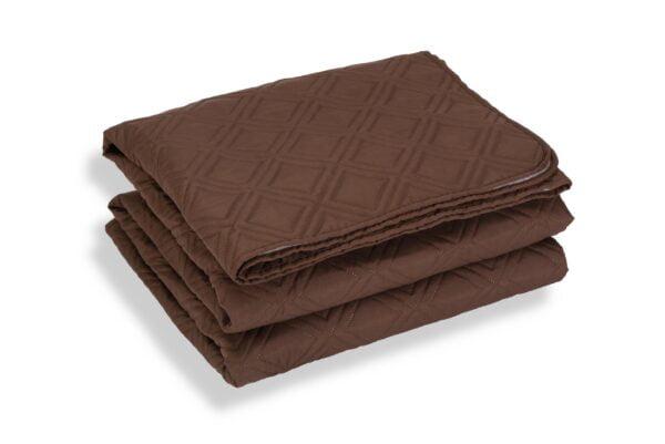 Cuvertura de pat Somnart, Chocolate, microfibra soft-touch, 220X240 cm