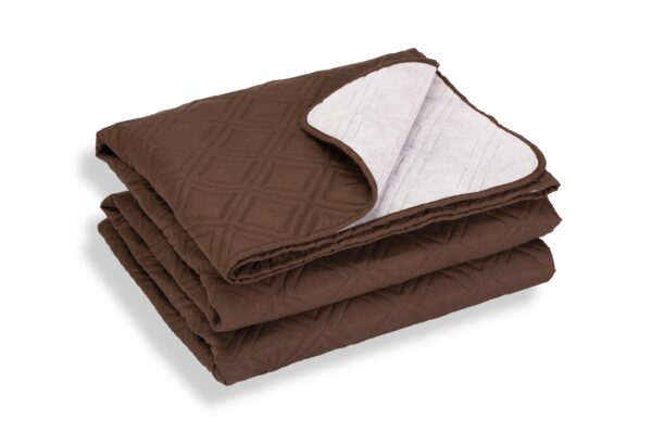 Cuvertură de pat Somnart, Chocolate, microfibră soft-touch, 220X240 cm