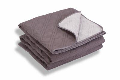 Cuvertură de pat Somnart, gri, microfibră soft-touch, 220X240 cm