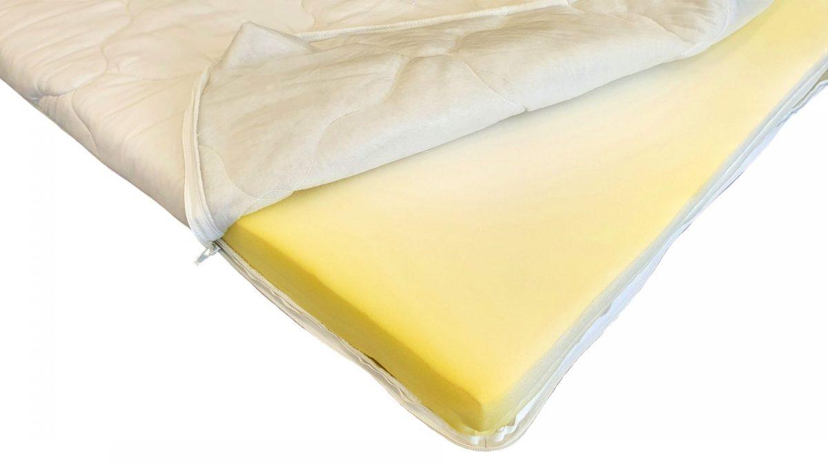 Topper HypoallergenicMed Somnart cu husa microfibra detasabila spalare la 95°C, 160×190, H5